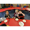 """Year 1- giving our verdict """"Very tasty!"""""""
