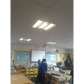 Checking use of electricity in the classrooms...