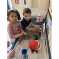 Year 1- Washing our hands before handling our food.