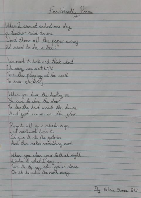 Poetry competition winner