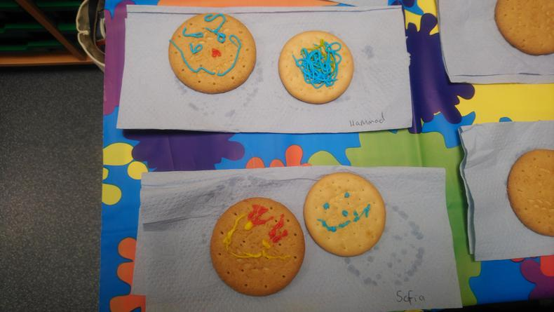 Finished designs - smiley faces :)