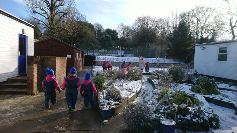 Our journey begins to FS past the sensory garden..