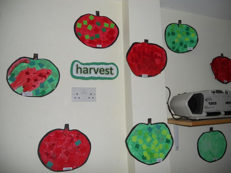 Harvest apple collage.