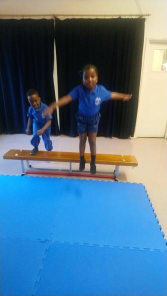 Tiyi & Temikemi experiment with jumping!