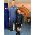 Kaleb and Tim Peake