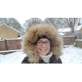 Mrs Clarke wrapped up warm!