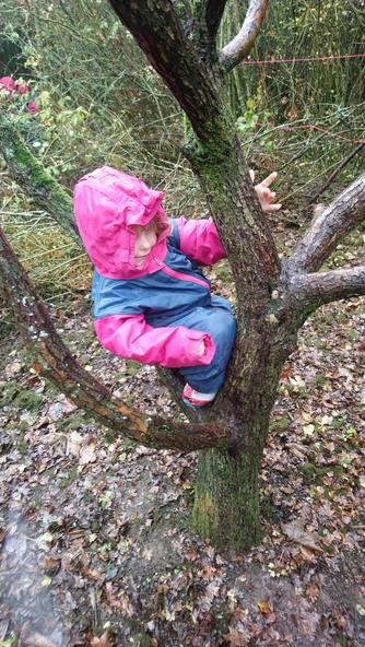 Olivia is climbing!