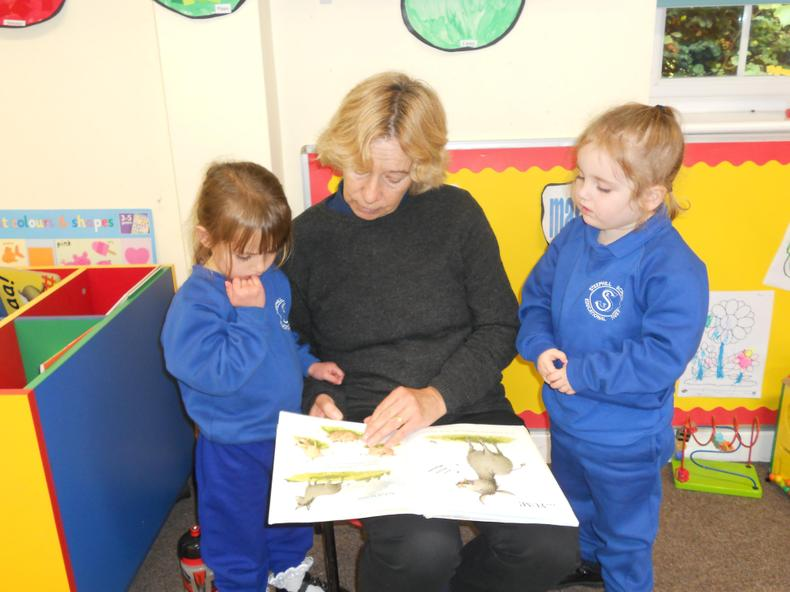 Having a story with Mrs Light.