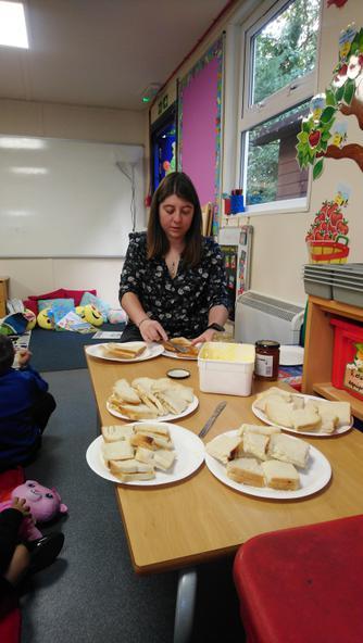 Mrs Fenning - sandwich maker!