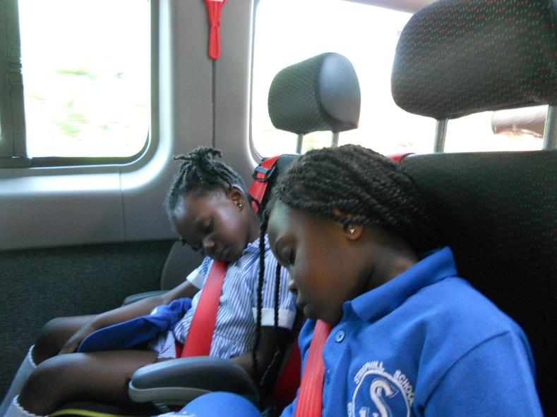 It was too much for some on the way home...