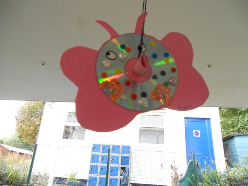 Outside flying butterfly