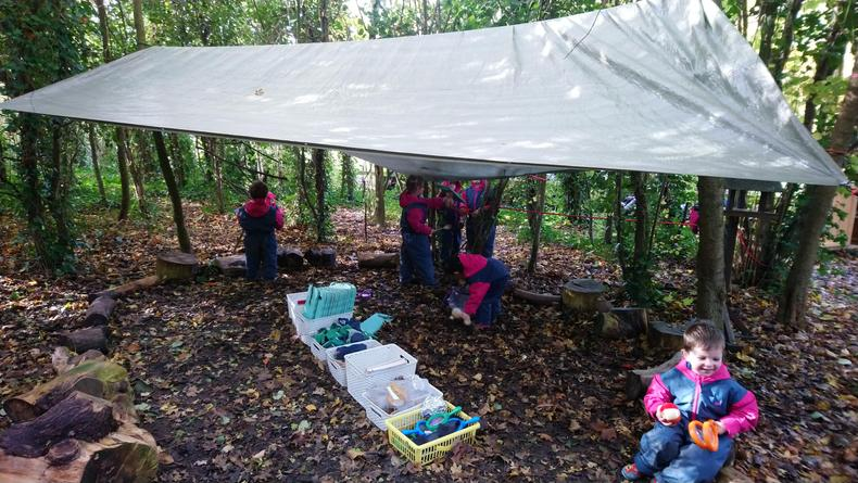 Base camp with canopy