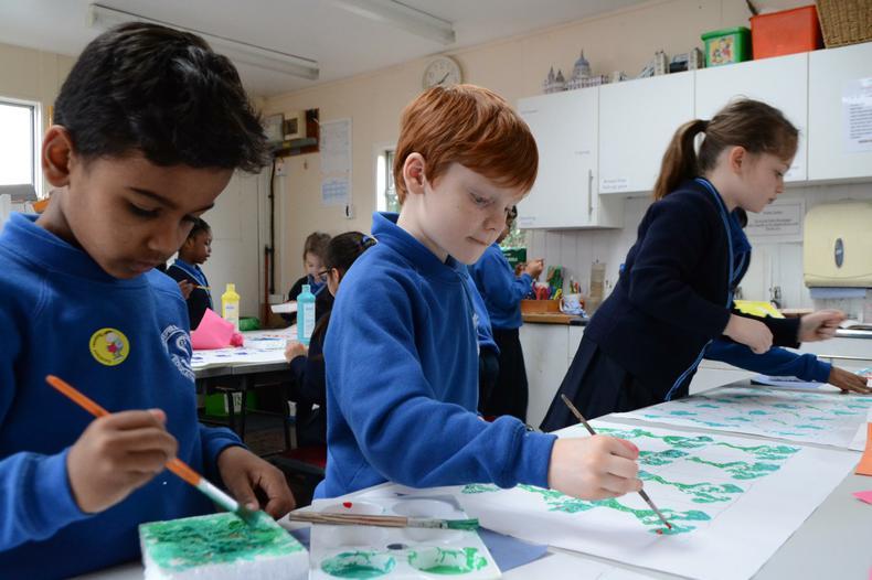William Morris paintings in progress