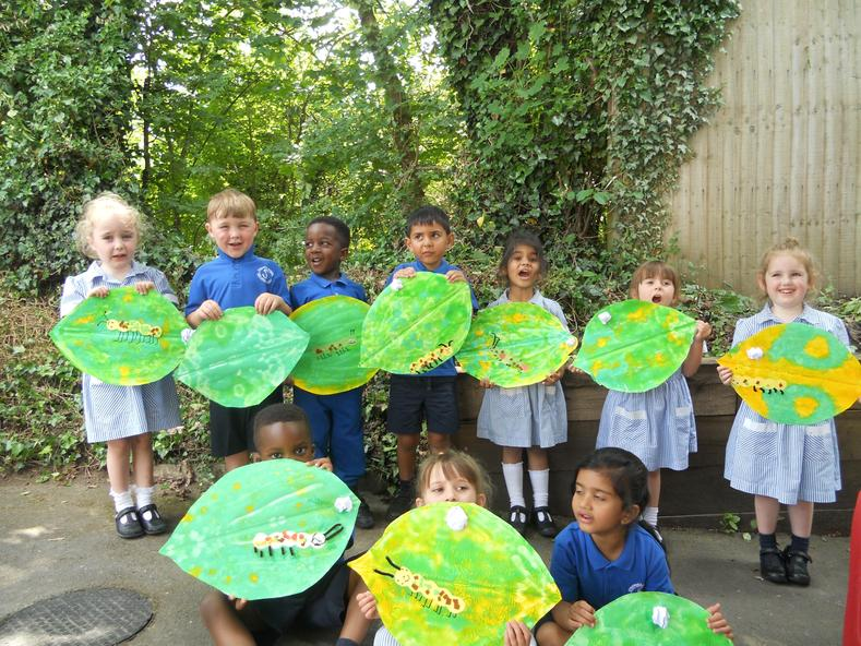 We are making the life cycle on our leaves!