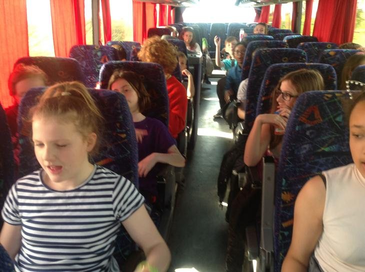 All happy on the coach!