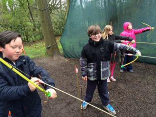 Some budding Robin Hoods!