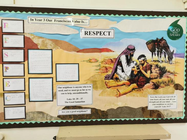 Year 3's Value is 'Respect'