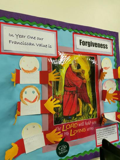 Year 1's Value is 'Forgiveness'