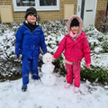 Great snowman Harley and Casey!