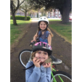 Iris and Orla on a Bike Ride