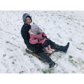 Emilie sledging with her dad!