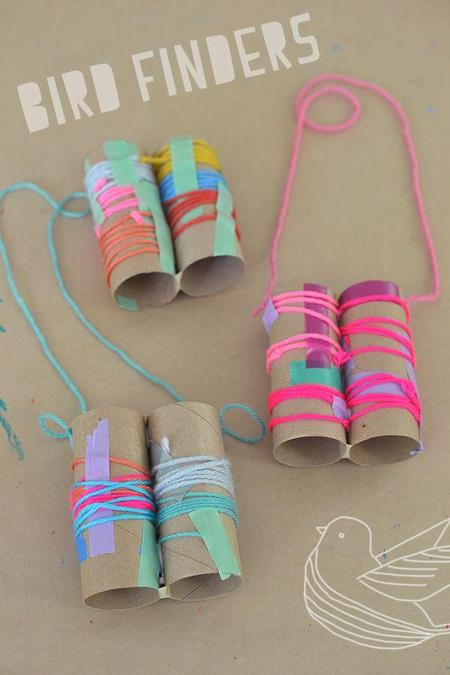 You could make some bird binoculars using toilet rolls and craft materials.