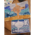 Wow...amazing shark and fish painting, linking to our sh sound