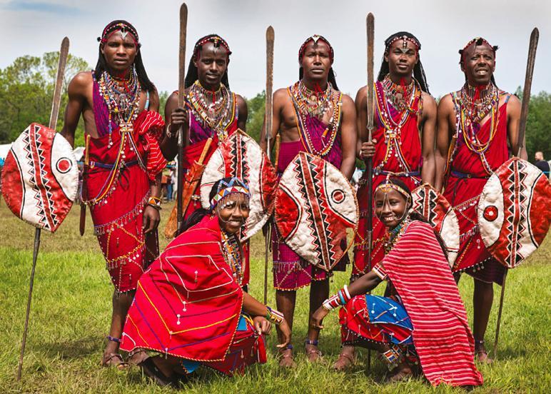 Some Masai people