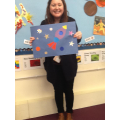 Mrs Crompton made a space picture!