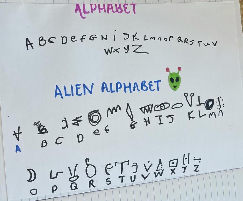 Can you write your name using this alien code?