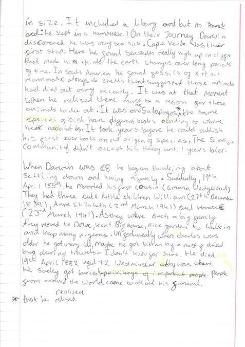 Amelia's Darwin Biography (2)
