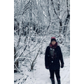 Mrs Jukes on her snow walk
