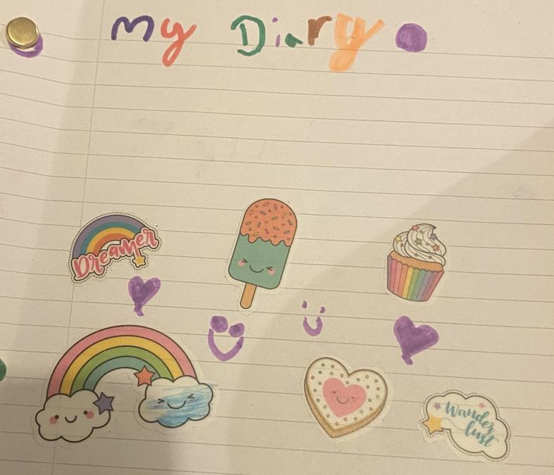 Writing a diary during half term
