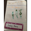 Look at Isla Mae's wonderful writing.