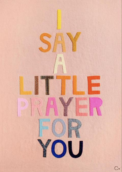 Our Reflection theme is Prayer. Is there someone you would like to say a prayer for?