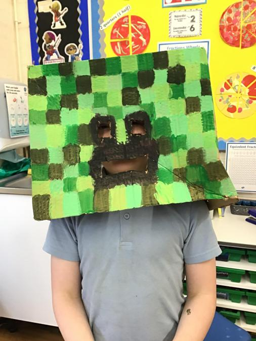 Samuel is a Creeper from Minecraft Stories