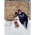 Mrs Jukes's snowman!