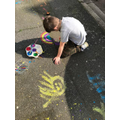 Theo's Beautiful Pavement Art