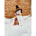 Can you guess who Mrs Jukes' snowman is?