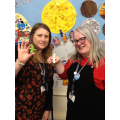 Mrs Green and Mrs Phelps doing their fine motor skills