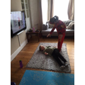 Zach and Ella Doing Joe Wicks