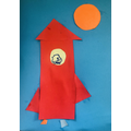 Rhion's rocket made with 2d shapes