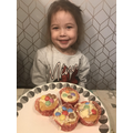 Evie made some yummy space cakes
