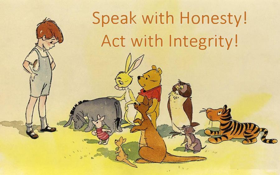 Talk to an adult about what we mean by integrity!