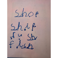 Sienna using our 'sh' sound