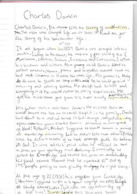 Amelia's Darwin Biography (1)