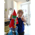 Look at Finn's amazing rocket ready to blast off!