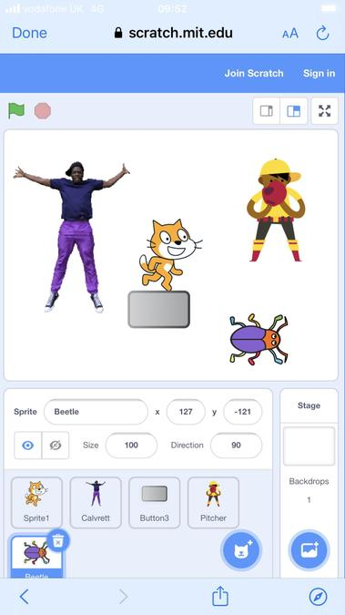 Dragon's exploring scratch for coding