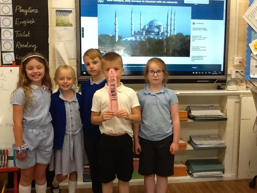 We looked at Mosques  and compared them to churches we visit.