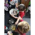Sienna baking cupcakes